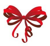 Roter Geschenkbogen Stockfoto
