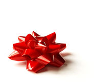 Roter Geschenkbogen Lizenzfreies Stockbild