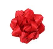 Roter Geschenkbogen Lizenzfreies Stockfoto