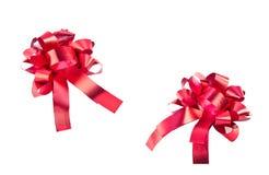 Roter Geschenkbogen getrennt Lizenzfreie Stockfotografie