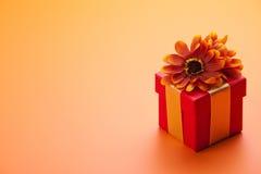 Roter Geschenkkasten Stockfotografie
