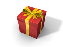 Roter Geschenkkasten Stockfotos