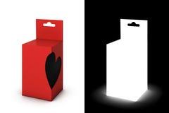 Roter Geschenkkasten Stockbild