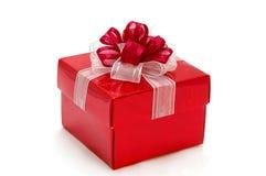 Roter Geschenkkasten Stockfoto