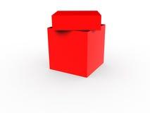 Roter Geschenkkasten. vektor abbildung