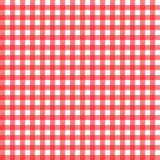 Roter Gingham Stockfoto