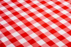 Roter Gingham-Hintergrund Lizenzfreie Stockbilder
