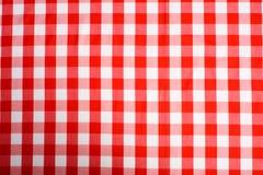 Roter Gingham-Hintergrund Lizenzfreies Stockfoto