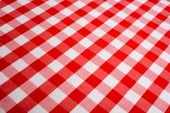 Roter Gingham-Hintergrund Lizenzfreie Stockfotografie