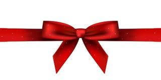 Roter glänzender Bogen Stockfoto