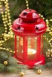 Roter glühender Laternenabschluß oben Lizenzfreie Stockfotografie