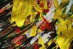 Roter goldener funkelnder Hintergrund, bunte klare wächserne Farben, kontrastiert kreativen Hintergrund Lizenzfreies Stockfoto