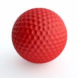 Roter Golfball Lizenzfreies Stockbild