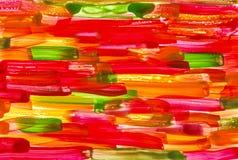 Roter grüner gelber Aquarellhintergrund Stockfotografie