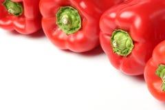 Roter grüner Pfeffer Stockfotografie