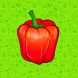 Roter grüner Pfeffer auf Farbhintergrund Auch im corel abgehobenen Betrag Lizenzfreie Stockfotografie