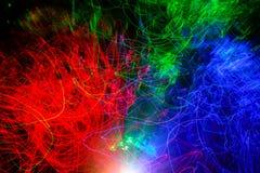 Roter grüner u. blauer bokeh Zusammenfassungs-Lichthintergrund stockfoto
