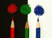 Roter grüner und blauer rgb zeichnet Konzept an Lizenzfreies Stockfoto