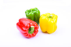 Roter, grüner und gelber Paprika Lizenzfreies Stockfoto