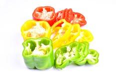 Roter, grüner und gelber Paprika Lizenzfreies Stockbild