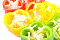Roter, grüner und gelber Paprika Lizenzfreie Stockbilder