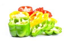 Roter, grüner und gelber Paprika Lizenzfreie Stockfotos