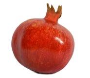 Roter Granatapfel auf weißem Hintergrund. Stockfotos