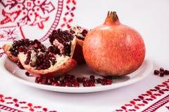 Roter Granatapfel Leben-Symbol Stockbild