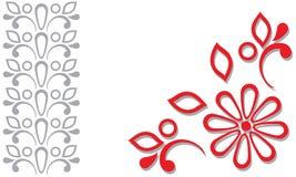 Roter grauer Ornamentrahmen Lizenzfreies Stockbild