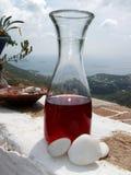 Roter griechischer Wein Stockfotos