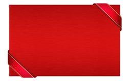 Roter Gutschein Stockfoto