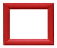 Roter hölzerner Bilderrahmen Stockbild