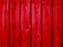 Roter hölzerner Hintergrund - Vektor Alter hölzerner gemalter Hintergrund lizenzfreie stockfotos