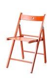 Roter hölzerner Stuhl Lizenzfreie Stockbilder