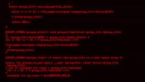 Roter Hacker-Code auf Schirm-grafischem Element-Hintergrund