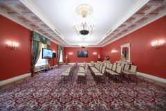 Roter Hall in der Gasterweiterung in großartigem der Kreml-Palast Lizenzfreie Stockfotos