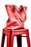 Roter Handbeutel Lizenzfreies Stockbild