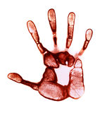 Roter Handdruck Stockfoto