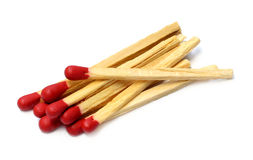 Roter Hauptmatchstock Stockfoto