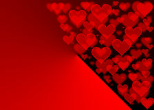 Roter Herzen bokeh Effekt für Valentinsgruß-Tag stock abbildung