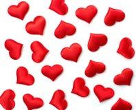 Roter Herzhintergrund stockfotos