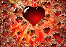 Roter Herzhintergrund des Valentinsgrußes Lizenzfreie Stockfotos