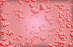 Roter Herzhintergrundrahmen für Karten der Heiligvalentinsgrußbesten wünsche und -grußes stockbilder