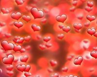 Roter Herzhintergrundrahmen für Karten der Heiligvalentinsgrußbesten wünsche und -grußes lizenzfreies stockfoto