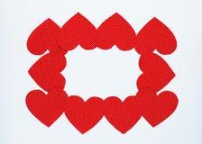 Roter Herzlichthintergrund Lizenzfreies Stockbild