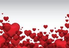 Roter Herzvalentinsgruß-Kartenvektor Lizenzfreies Stockfoto