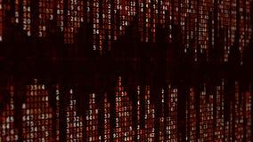 Roter Hightech- Hintergrund Abstrakter digitaler binärer Matrixeffekt stock video footage