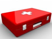 Roter Hilfsmittelsatz Stockbild