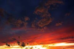 Roter Himmel Lizenzfreies Stockbild