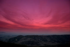 Roter Himmel stockfoto